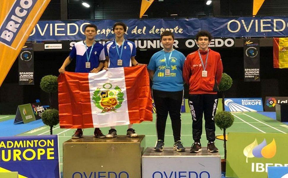 Perú logra cinco medallas en torneo internacional de bádminton en España