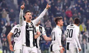 Cristiano anotó en la goleada de Juventus, que sigue puntero