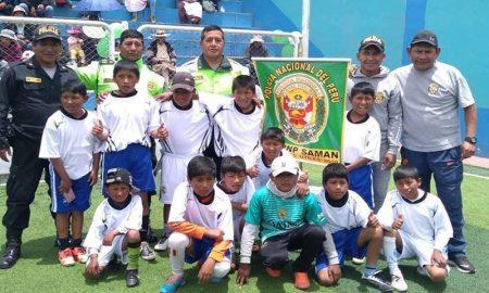 PNP pormueve el deporte en niños a través de academias en Azángaro
