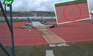 [VIDEO] Dañan pista atlética del estadio Torres Belón en fiesta de la Candelaria