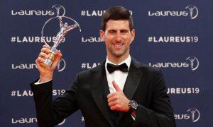Tenista Djokovic gana premio Laureus como Mejor Deportista del Año