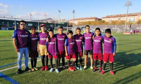 Niños de Arequipa conocen el club Barcelona en España