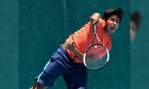 El joven tenista cumplió una destacada actuación en el torneo.