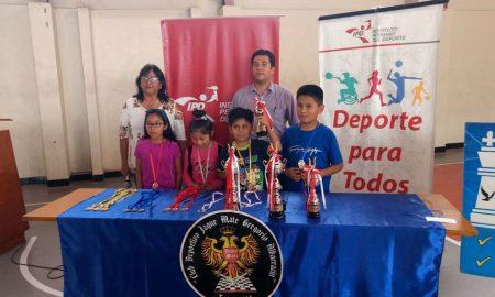 Los más pequeños de la competencia fueron premiados en el coliseo Gladys Céspedes.