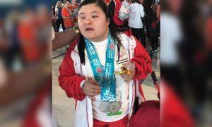 Nadadora arequipeña trae medalla de Juegos Mundiales de Abu Dhabi