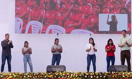 Deportistas del Top Perú celebraron el día internacional de la mujer