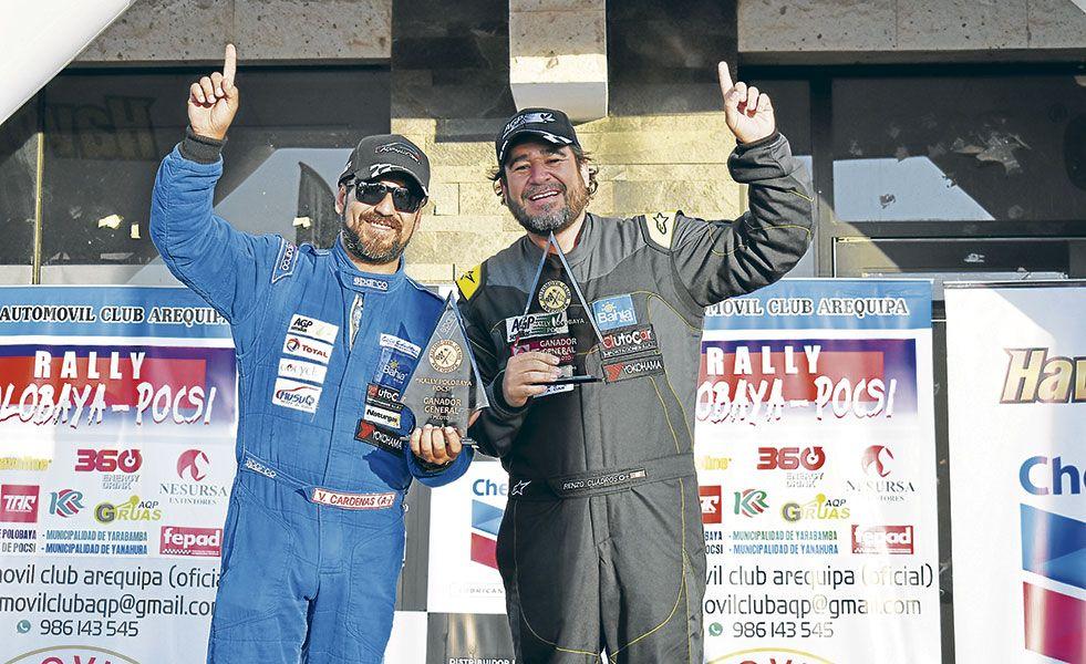 Víctor Cárdenas fue el más veloz del Rally Polobaya - Pocsi. Se llevó la general y la súper 2000