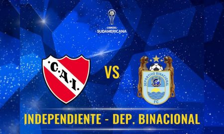 Binacional hoy juega contra Independiente