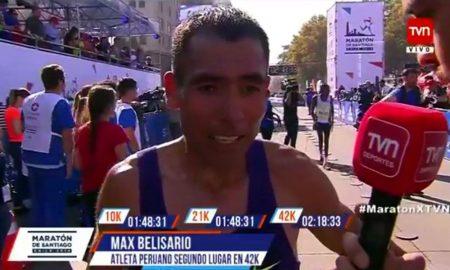 Tres peruanos destacan en Maratón de Santiago y consiguen marca para Lima 2019