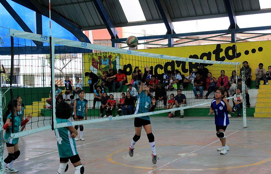 Se jugó la quinta fecha del vóley infantil en Paucarpata