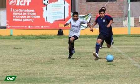 Se jugó la penúltima fecha en el fútbol varones de los Juegos Escolares de Paucarpata
