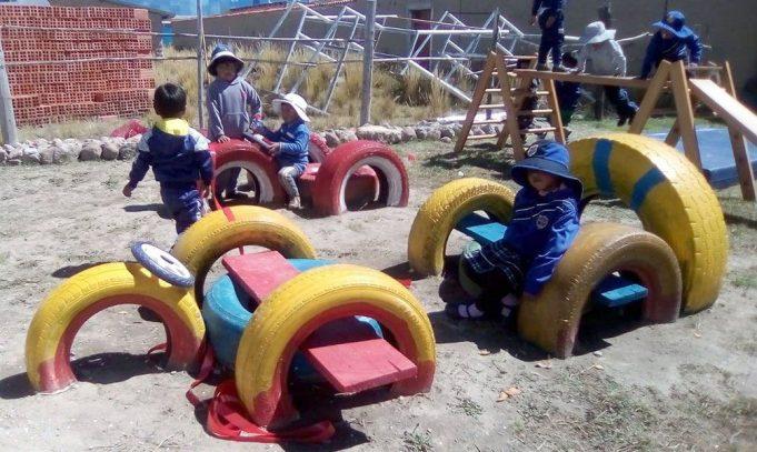 Niños del jardín de Imicate ahora cuentan con juegos de \
