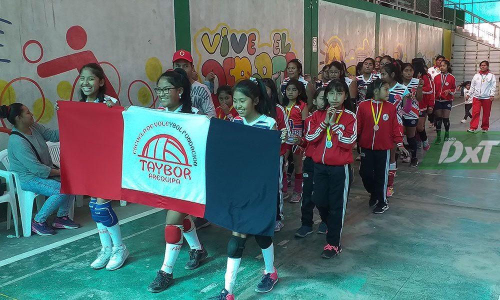 Se inauguró Torneo Oficial de Menores de la Liga de Vóley de Paucarpata