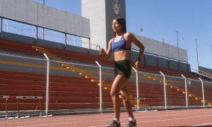 atleta. Mary Luz Andía entrena para ganar una medalla olímpica