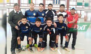 El equipo campeón de futsal en la categoría C.