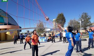 Recreación. CEPEA organizó juegos deportivos en las disciplinas de futsal y vóley