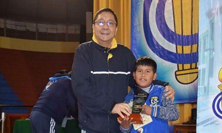 Mathías Mendoza Huanchi ocupó primer lugar en sub-8.
