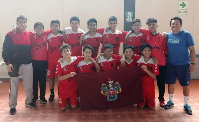 Alexander Fleming clasificó a semifinales en handball 'B' varones.