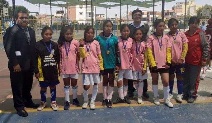 Colegio Elohim campeón de futsal damas, categoría 'A'.