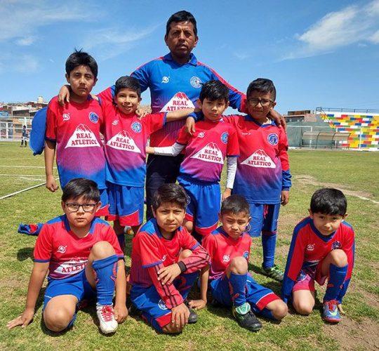 Los niños del Real Atlético.