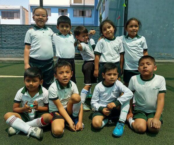 Los pequeños del colegio San Lorenzo.