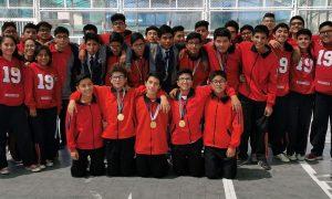Jóvenes del colegio Alexander Fleming se consagraron campeones en los Juegos Deportivos Escolares Nacionales.