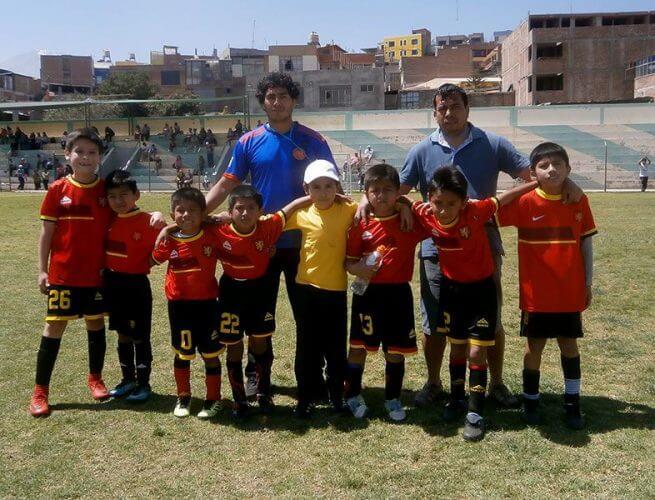 El colegio Santa Clara presente con sus equipos.