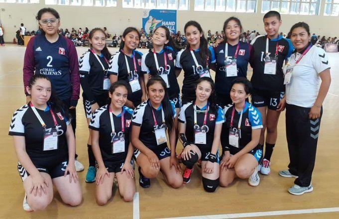 Colegio Calienes ganó en el handball damas categoría 'C'.