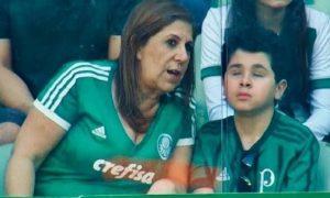 Imagen se captó en medio del clásico paulista entre Palmeiras y Corinthians.