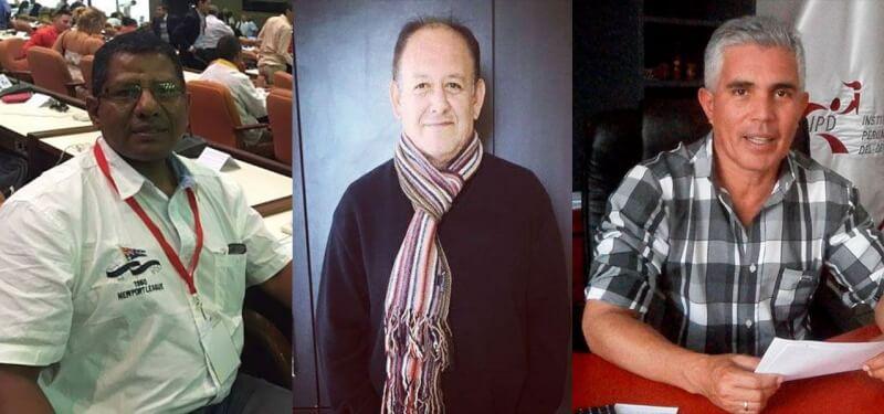 Edwin Murga, José Luis Tejada y Sergio Bolliger. Uno de los tres es el próximo presidente del IPD Arequipa.
