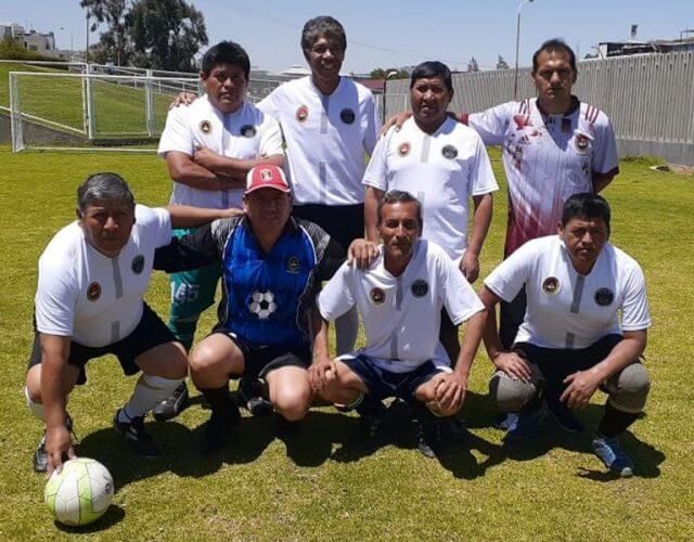 Equipo del área de Sociales en el fútbol 7.