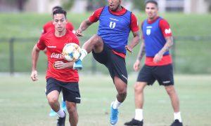 Selección nacional entrenó con plantel completo en los Estados Unidos para su partido de este viernes