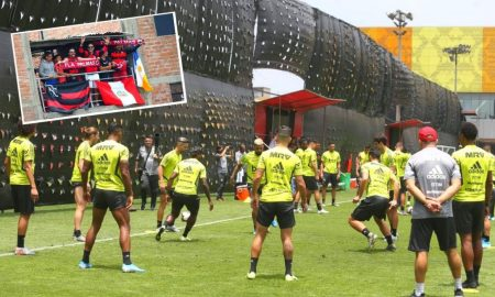 cautela. Entrenador de Flamengo mandó a colocar protección para evitar espías