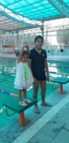 Se desarrolló prueba de natación en categoría menores.