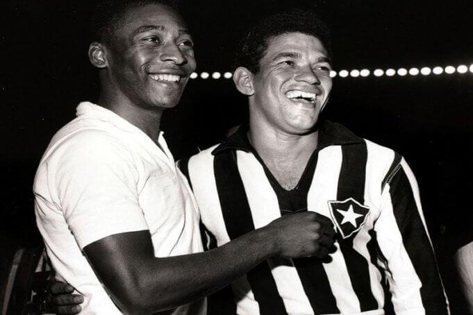 Pelé llegó a Arequipa con el Santos de Brasil.